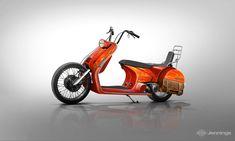 Exercise: Transferring Vespa's Design Language Onto Motorcycle Form Factors