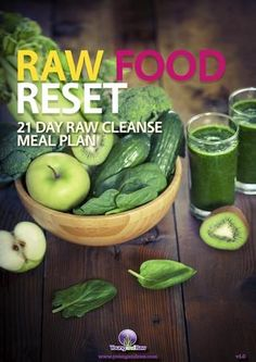 RAW FOOD RESET 21 DAY RAW CLEANSE MEAL PLAN http://papasteves.com/blogs/news/11304001-fiber-protein-fat-satiety-feel-fuller-longer-slow-down-sugar-absorption #weightlossfast