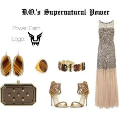 EXO D.O. Supernatural Power Inspired Outfit by nanrelladu on Polyvore featuring Gina Bacconi, René Caovilla, Alexander McQueen, Kendra Scott, Kenneth Jay Lane and Vince Camuto