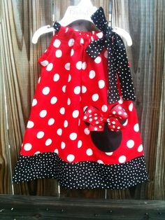 Minnie mouse pillowcase dressvisit my shop and by fridascloset1, $25.00