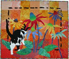 A Quilter's Menagerie, quilt by Ann Fahl  I like the black accent on the borders.