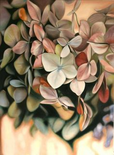 hydrangea petals - oil painting by Leanne Thomas Art Floral, Garden Care, Art Oil, Watercolor Flowers, Painting Inspiration, Painting & Drawing, Flower Art, Amazing Art, Beautiful Flowers