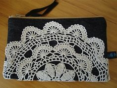 Doily purse-coffee