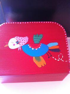 Beschilderd koffertje