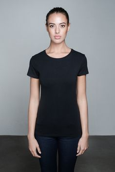 Beau High Neck T-shirt   People's Avenue   #highneck #tshirt #black #basic