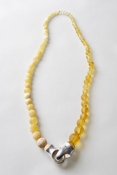 JULIE MOLLENHAUER  Necklace: Untitled 2006  Amber, silver