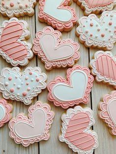 Hearts Super Cookies, Mother's Day Cookies, Crazy Cookies, Valentines Day Cookies, Fancy Cookies, Heart Cookies, Iced Cookies, Easter Cookies, Cupcake Cookies