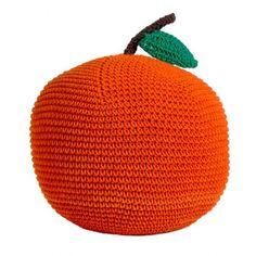 Crocheted Apple Cushion