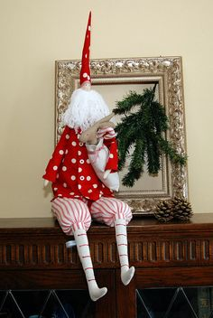 Tilda's Santa Claus toy/decoration handmade by DorothysDream, $89.90