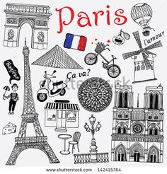 Paris illustration - stock vector