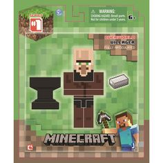 Minecraft Figure Villager Blacksmith Minecraft action figures Video game characters Blacksmithing