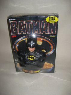 Vintage Batman Cereal and Bank FACTORY SEALED by VintageByThePound, $24.00