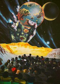 The Infinite Revolution. Mixed Media Collage Art By Ayham Jabr.
