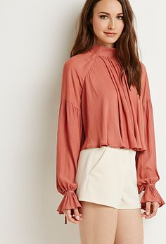Contemporary High-Neck Ruffled Blouse | Forever 21 - 2000141556