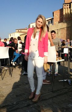 GLAM girls spotted at the Pink Punter event Glam Girl, South Africa, White Jeans, Glamour, Girls, Pink, Outfits, Fashion, Moda