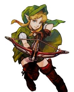 "The Legend of Zelda and Hyrule Warriors / Rinkuru (""Linkle"" in English.) as shown in the art book for Hyrule Warriors"