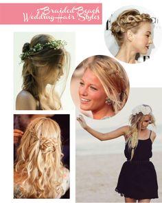 Braided Beach Wedding Hair