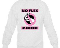 No Flex Zone Sweatshirt - Unisex Womens White And Pink Rap Hip Hop Rae Sremmurd No Flex Zone Sweatshirt