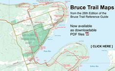 Bruce Trail Maps and Trail Guide Edition is now available - AND it's a great reference Niagara Region, Trail Guide, Trail Maps, Go Hiking, Nature Reserve, Ontario, Places To See, Road Trip, Adventure