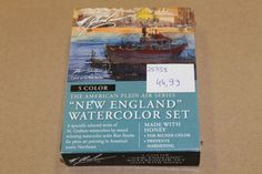 GRAHAM Watercolor 5er Set - New England 5x15ml: Naphthol Red, Cadmium Yellow Light, Ultramarine Blue, Burnt Umber, Hookers Green