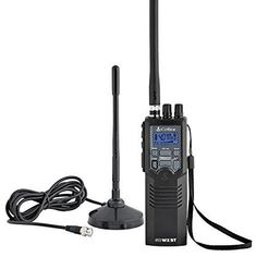 Cobra Road Trip Cb Radio, Handheld Black Radio with Rooftop Magnet Mount Antenna, NOAA Channels, Dual Watch & 40 Channel Access Emergency Radio, Two Way Radio, Ways To Communicate, Ham Radio, Walkie Talkie, Travel Essentials, Rooftop, Road Trip, Radios