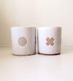 XO Ceramic Cup by Jen E on Scoutmob