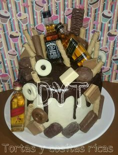Dripcake whisky y chocolates