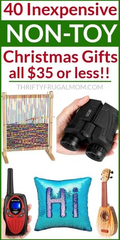 Non Toy Gifts for Christmas- love to give memorable gifts that will actually be useful? Check out this gift guide full of fun non-toy ideas that are budget friendly too! Lots of great options for both boys and girls. #thriftyfrugalmom #nontoygifts #giftsforkids #christmas Frugal Christmas, Christmas Gifts For Kids, All Things Christmas, Easy Diy Gifts, Cheap Gifts, Non Toy Gifts, Get Well Gifts, Inexpensive Gift, Practical Gifts
