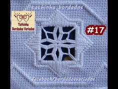 PONTO ROSETA HARDANGER - Tathinha Bordados #17 - YouTube