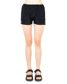 ILARIA NISTRI VISCOSE SHORTS S/S 2016 Black viscose shorts drawstring waist  fusible details 74% VI 26% SE