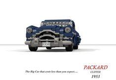 Packard 1953 Clipper Sedan Lego Vehicles, Rear Window, Cadillac, Convertible, Monster Trucks, Cutaway, Infinity Dress