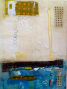 encaustic and mixed media painting by Amy Weil  SOLD