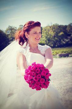 Bouquet de mariée rose fushia