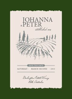 Cute save the date for a winery wedding