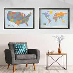 Colorful World Push Pin Travel Map With Pins Travel Maps Room - Create a us map with pins