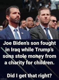Joe Biden Son, Eric Trump, Genetics Traits, Theatre Of The Absurd, Satire, Donald Trump, America, Humor, Humour