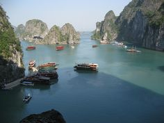Halong Bay, view from Amazing Cave by Arian Zwegers, via Flickr