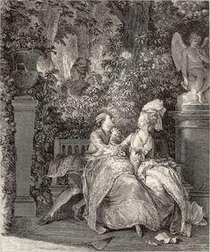 Oui ou non    N. Thomas d'après Jean-Michel Moreau le Jeune (1741-1814), vers 1781.