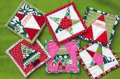 christmas coasters for mom! by kellyink, via Flickr