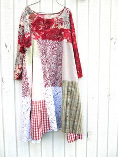 upcycled Dress / romantic Upcycled clothing / by CreoleSha on Etsy