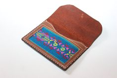The Alex - Tribal Mexican Aplique Horween Leather Wallet