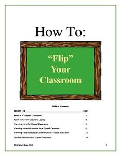 "Are you thinking of ""flipping"" your classroom?  Want to know how to set up a unit or lesson in a ""flipped"" classroom?  I have been teaching for over 15 years and, when I went to ""flip"" my classroom, I was VERY overwhelmed.  It is a totally different philosophy."