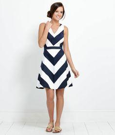 I just found my favorite clothing website ever! Shop Womens Summer Dresses: Awning Stripe Halter Dress - Vineyard Vines