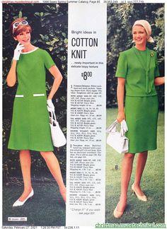 Sixties Fashion, Christmas Catalogs, 1960s, Vintage Fashion, Spring Summer, Zipper, Shirt Dress, Knitting, Holiday