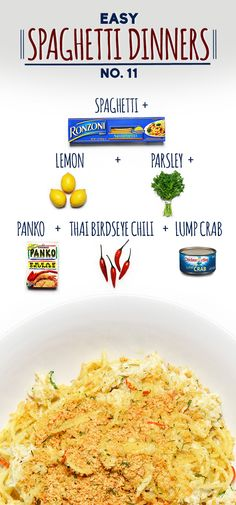 Crab Spaghetti with Chili and Bread Crumbs   19 Delicious Spaghetti Dinners