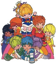 Rainbow Brite- loved this cartoon growing up! This may explain my love for color....