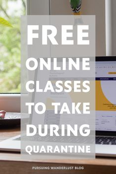 Are you currently stuck at home because of quarantine? There are several free online classes you can enroll in right now to take your mind off being at home. Online Spanish Courses, Online Courses, Free Classes, Free Education, Photography Courses, Bons Plans, Continuing Education, Learning Spanish, Uni
