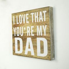 Wooden Dad Love Decor