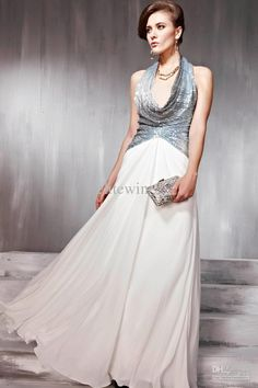 Sexy Halter Bridesmaid Dress Silver Paillette Princess Floorlength Wedding Evening Party Dresses Online with $265.27/Piece on Elitewin's Store   DHgate.com