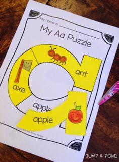 Alphabet Puzzle Worksheets - just bought Kindergarten Language Arts, Preschool Letters, Learning Letters, Kindergarten Literacy, Preschool Classroom, Preschool Learning, Preschool Activities, Classroom Ideas, Alphabet Worksheets